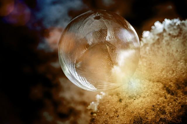 Ball, Soap Bubble, Bubble, Frost, Frozen, Ice, Iced