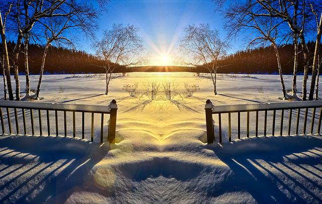 Sunset, Spring, Melting, Ice, Nature, Landscape