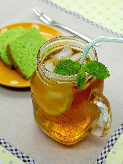 Ice Lemon Tea, Tea, Drink, Glass, Lemon, Cold, Mint