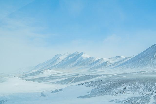 Ice, Snow, Iceland, Plateau, Mountains, Light Blue