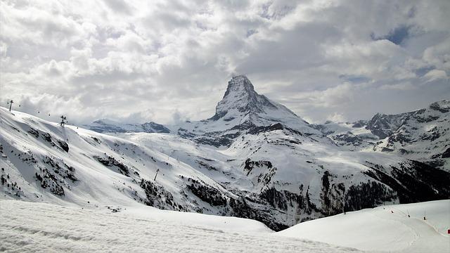 Matterhorn, The Alps, Switzerland, Snow, Mountain, Ice