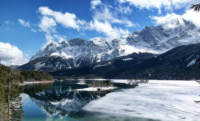 Snow, Mountain, Nature, Waters, Ice, Panorama