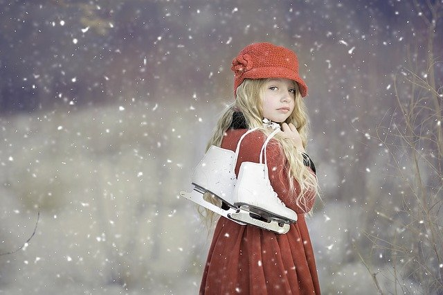 Ice Skates, Winter, Ice Skating, Skating, Snow, Girl