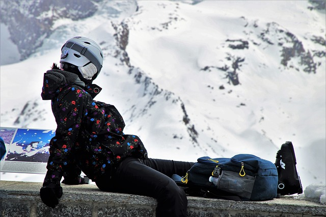 Helmet, Ski, Jacket, One, Snow, Winter, Cold, Ice