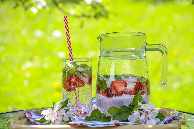 Strawberry Drink, Fruit Tea, Ice Tea, Refreshment