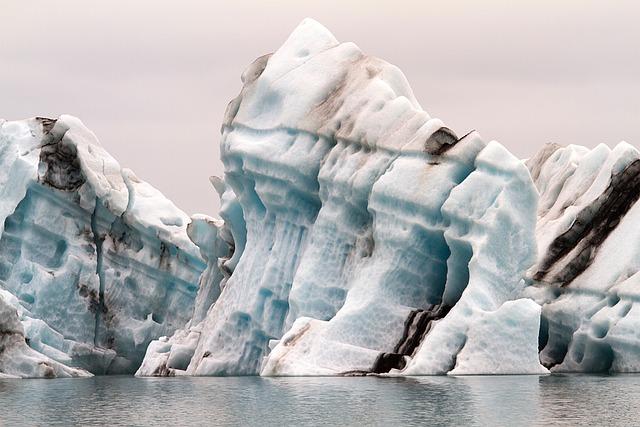Iceland, Driving Iceberg, Steam, Glacier, Icebergs