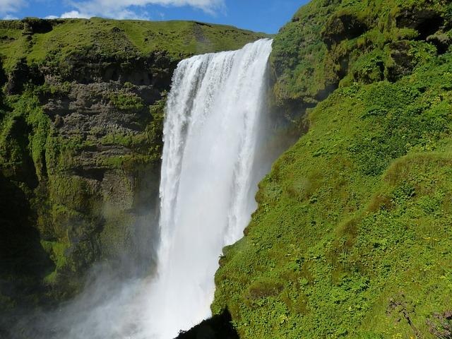 Iceland, Skogafoss, Bílá, Enormous, Nature, Landscape