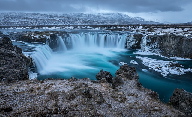 Iceland, Godafoss, Waterfall, River, Powerful, Scenic