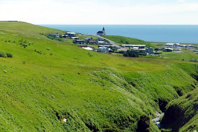Iceland, Vik, South Coast, Landscape, Nature, Village