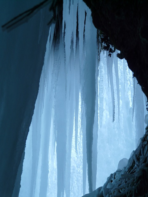 Ice Cave, Ice Curtain, Icicle, Ice Formations, Cave