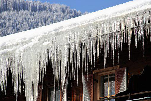 Winter, Snow, House, Icicles, Cold, Icy, Frost, Ice