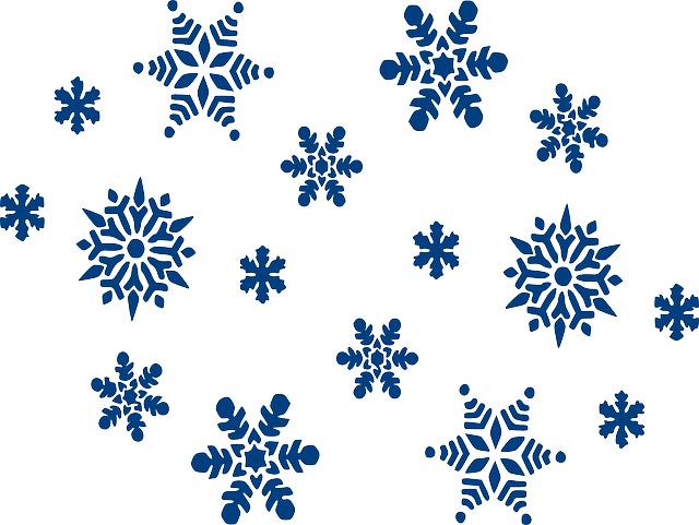 Snowflakes, Blue, Sky, Winter, Christmas, Snow, Icicles