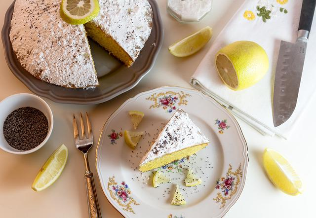 Food, Cake, Lemon, Icing Sugar, Composition, Lemon Cake