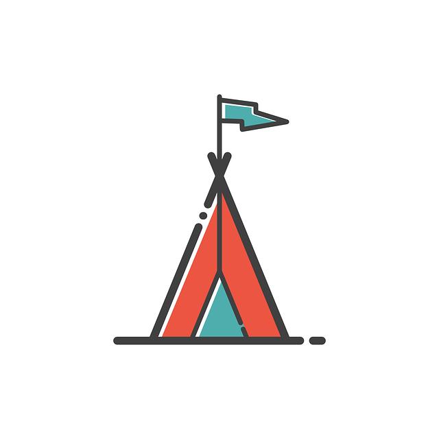 Camp, Icon, Travel, Design, Camping, Symbol, Summer
