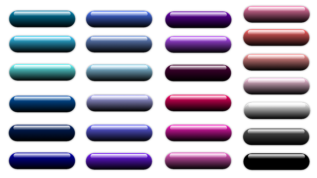 Button, Icon, Oblong, Colorful, Shiny