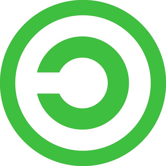 Copyright, Inverse, Copyrighted, Circle, Green, Icon