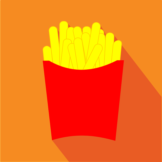 Chips, Fast Food, French Fries, Icon