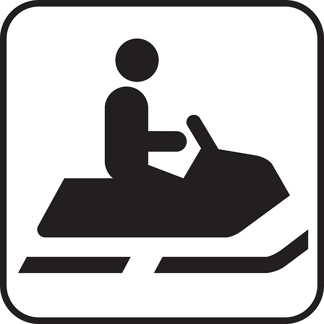 Snowmobile, Snow, Motor, Symbol, Sign, Icon