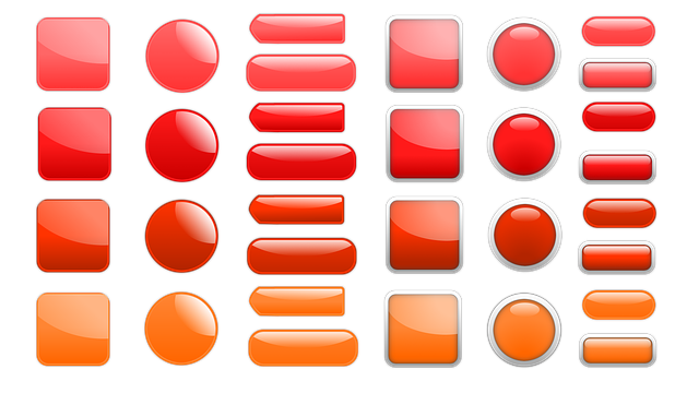 Button, Icon, Oblong, Square, About, Red, Orange