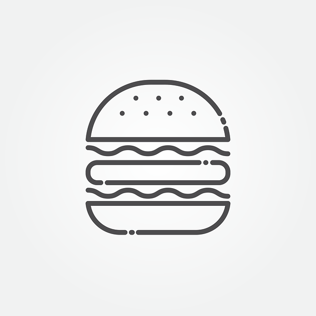 Burger, Icon, Hamburger, Fast, Meat, Lunch, Sign