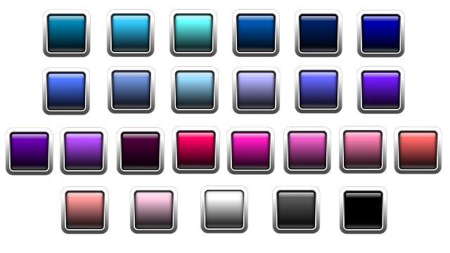 Button, Icon, Square, Colorful, Edge