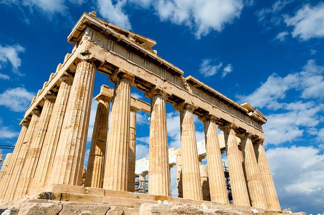 Greece, Palace, Sky, Parthenon, Iconic, Ruins, Building