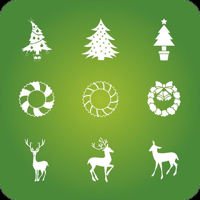 Christmas, Holidays, Icons, Christmas Decoration