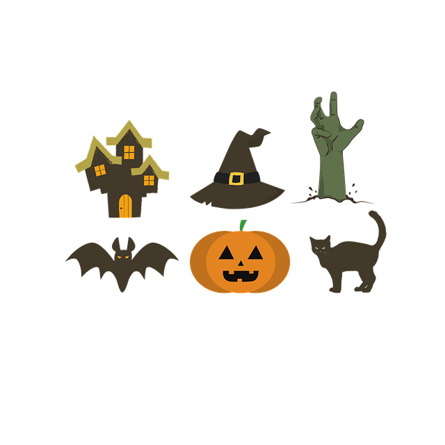 Halloween, Icons, Symbols, Haunted House