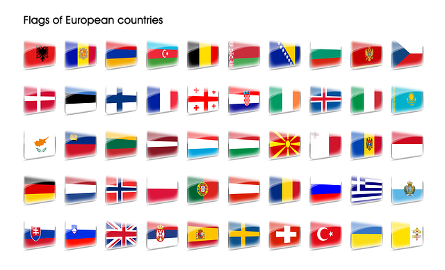 The Flag Of The, Europe, Country, Icons, Symbol