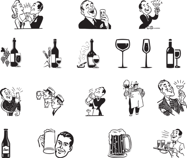 Alcoholic Drinks, Beer, Wine, Icons, Alcohol, Bar, Pub