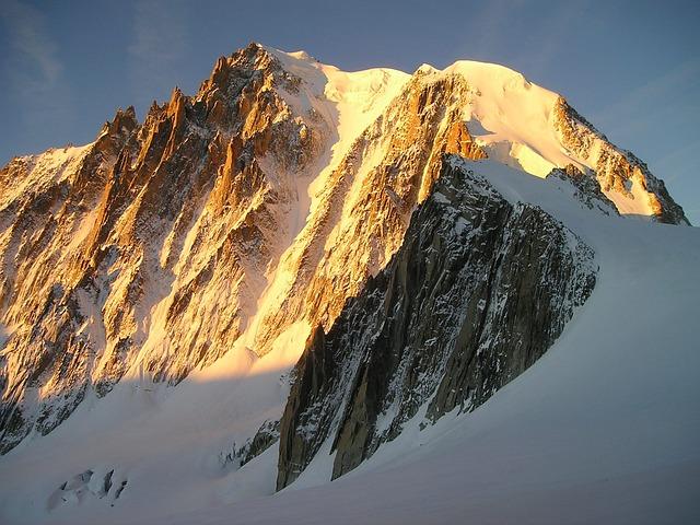 Icy Channel, Chamonix, Mont Blanc Du Tacul, Alpine