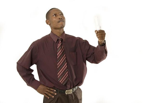 Man, Bulb, Idea, Light, Human, Electricity, Person
