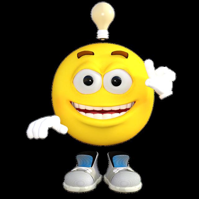 Idea, Emoticon, Emoji, Expression, Face, Smile, Funny