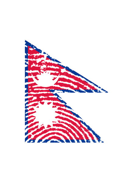 Nepal, Flag, Fingerprint, Country, Pride, Identity