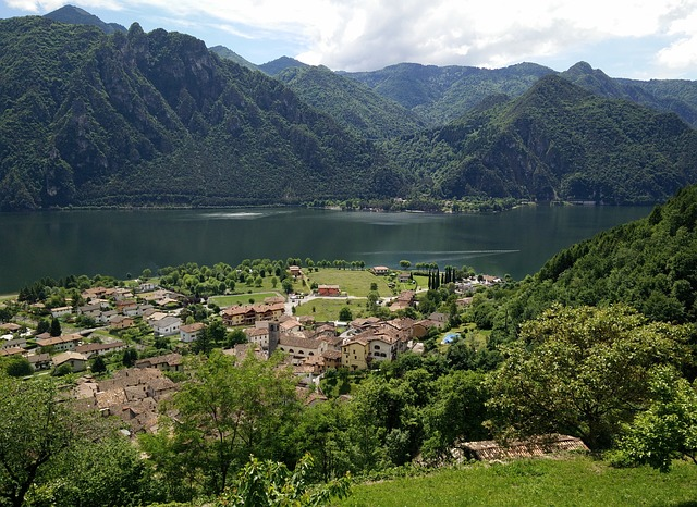 Lago D ' Idro, Idro, Anfo, Village, Lake, Mountains