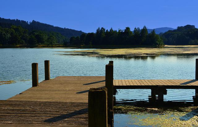 Jetty, Lake, Water, Bank, Waters, Idyll, Idyllic, Rest
