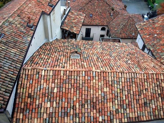 Italy, Barolo, Roofs, Idyllic