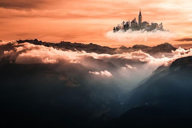 Ile, Mounting, Photo Editing, Flying City, Fantasy