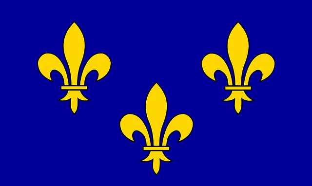 Ile De France, Flag, France, Region, Ile-de-france