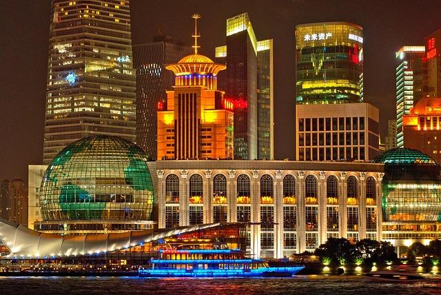 Buildings, Illuminated, City, City Lights, Waterfront