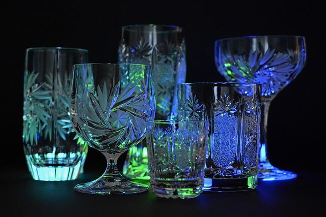 Crystal Glasses, Crystal, Glass, Illuminated
