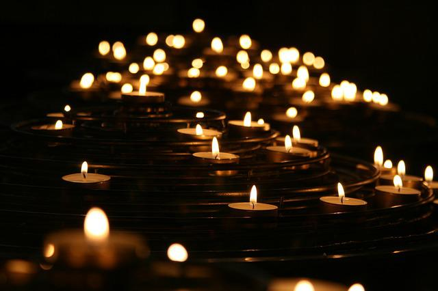 Candlelights, Candles, Dark, Flames, Illuminated, Light