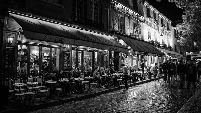 Paris, Night, France, Romantic, Illuminated, Montmartre