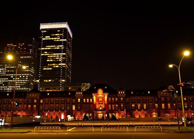 Tokyo Station, Night View, Illumination