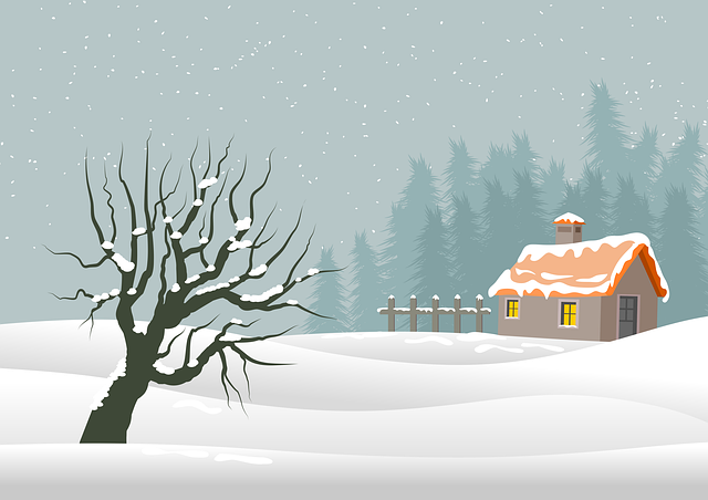 Illustration, Christmas, Background, Landscape, Nature