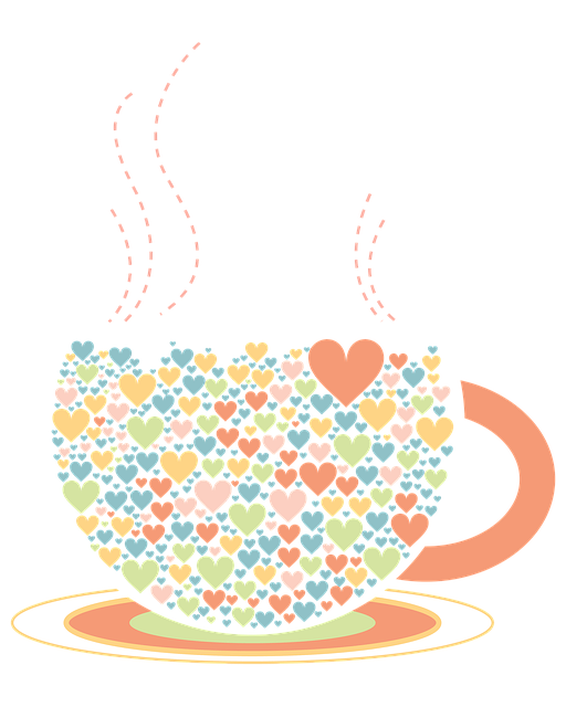 Love, Tea Cup, Illustration, Color, Png