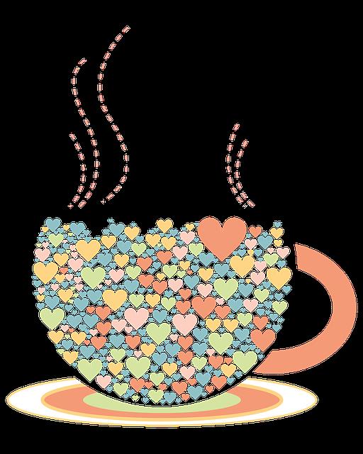 Love, Tea Cup, Illustration, Color, Png