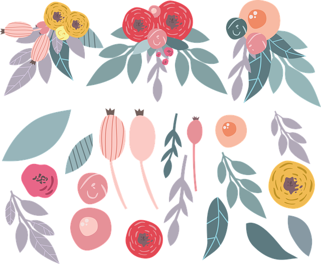 Flowers, Illustration Of The Flowers, Cartoon Flowers