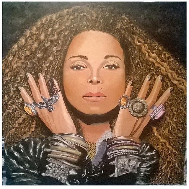 Art, Image, Painting, Paint, Acrylic, Janet Jakson