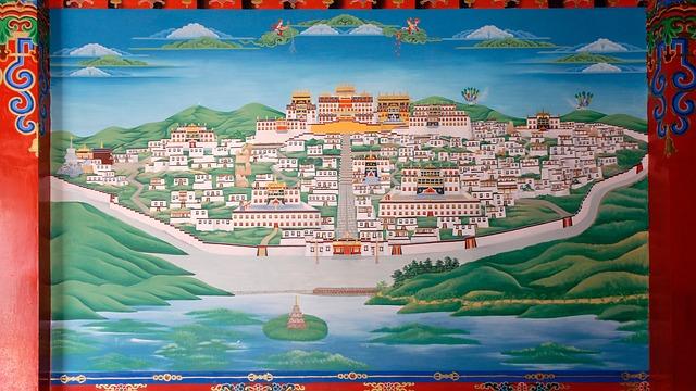 Image, Painting, Chinese, China, Lijiang, Monastery